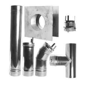 Category III 4in Stainless Steel Horizontal Vent Kit
