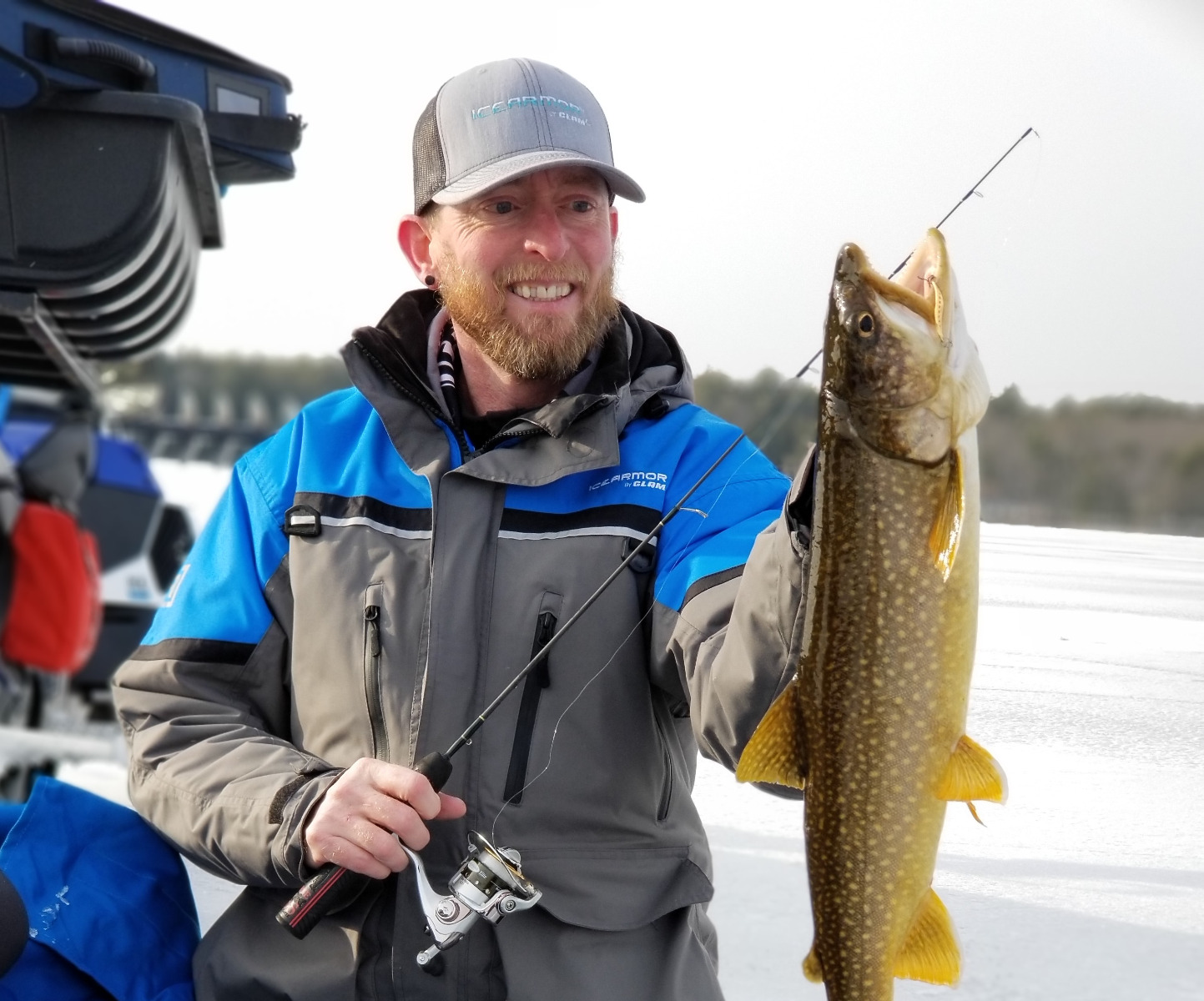 Fishing for Lake Trout on the Ice