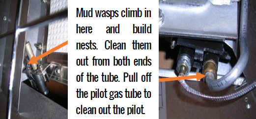 Cleaning Pilot Tube on Overhead Radiant Heaters
