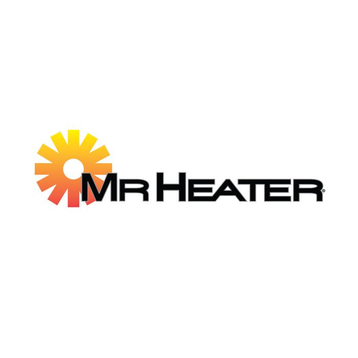 Mr. Heater Hooded Sweatshirt Black and White Logo